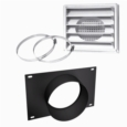5'Ø FRESH AIR INTAKE KIT FOR WOOD STOVE ON PEDESTAL