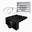"5""Ø FRESH AIR INTAKE KIT FOR WOOD STOVE ON LEGS"
