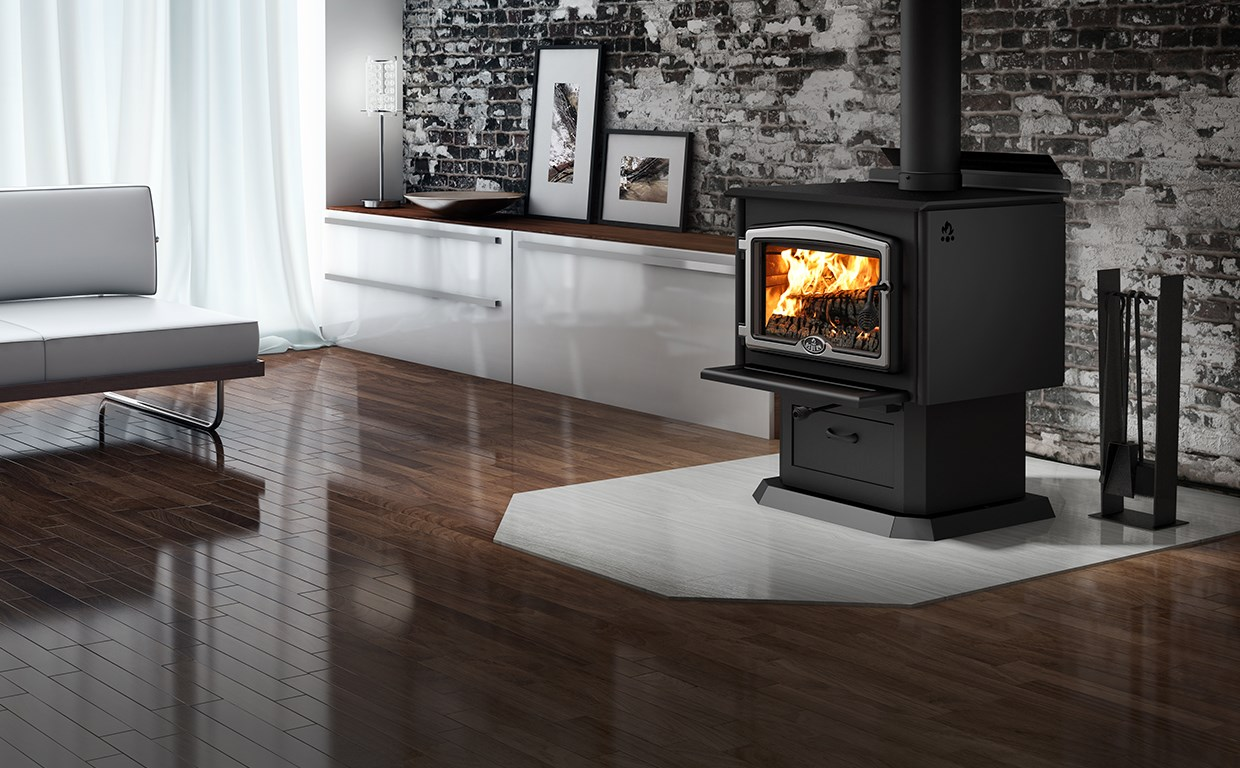 Wood 2000 WOOD STOVE WITH BLOWER Area 500 - 2,100 Ft Max. output 75,000  BTU/h (22.0 kW) Starting at: USD $1,849.00 - Wood Stoves