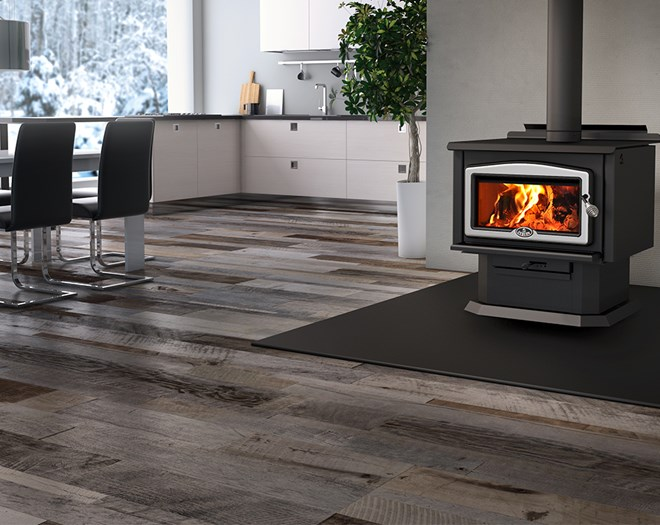 Wood 2400 WOOD STOVE Area 1,000 - 2,700 Ft Max. output 100,000 BTU/h (29.3  kW) Starting at: USD$1,999.00 - Wood Stoves Osburn